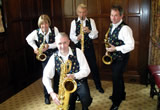 Simply Sax quartet with instruments